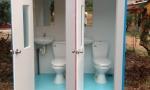 Nội thất nhà vệ sinh di động đôi