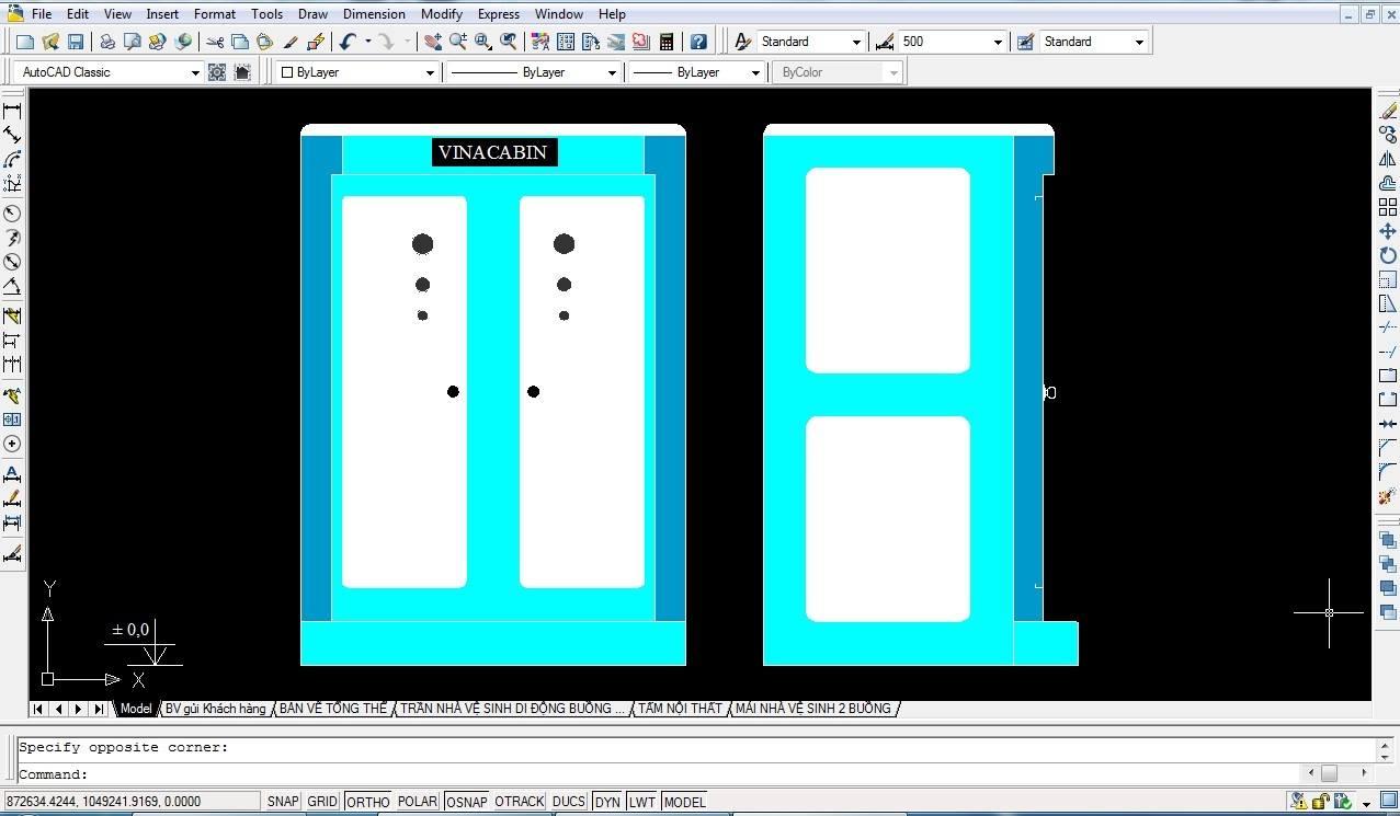 Thiết kế nhà vệ sinh di động đôi V18.2