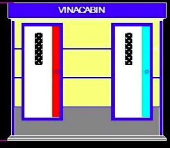 Nhà vệ sinh công cộng 3 phòng 2 cửa