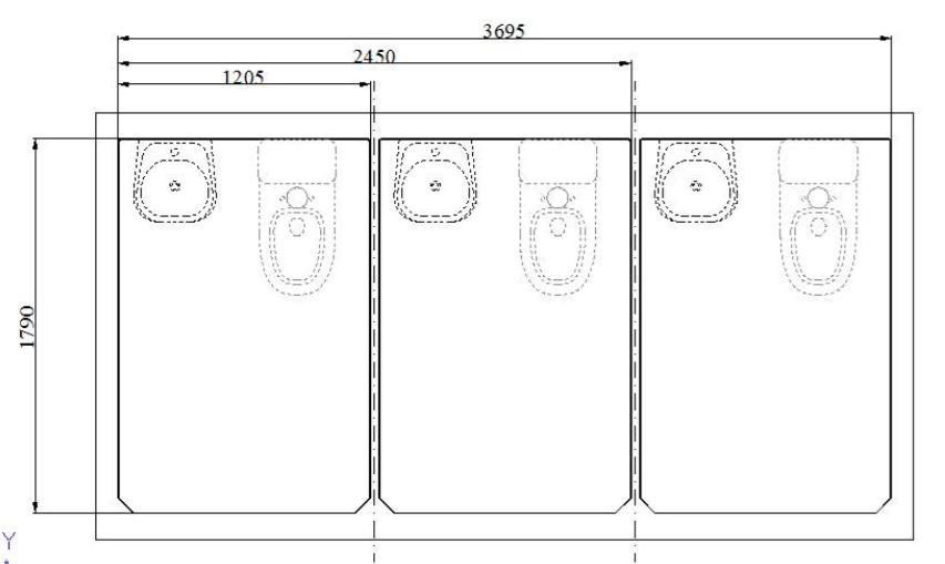 Sơ đồ nội thất nhà vệ sinh công cộng V18.3L
