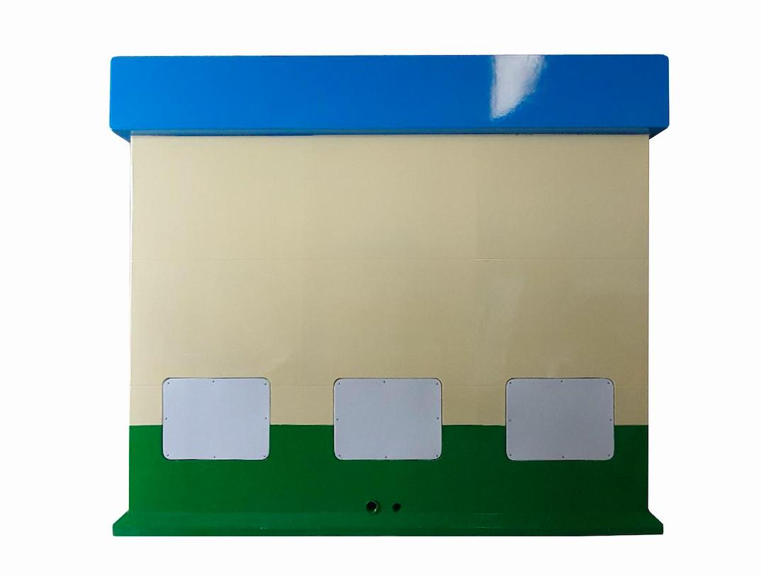 Cửa hút chất thải và bơm tăng áp được đặt trong hộp kỹ thuật phía sau