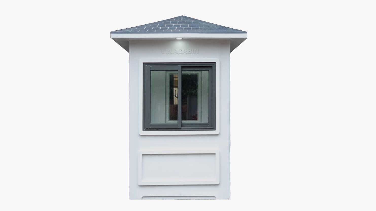 Mặt trước và mặt sau của cabin bảo vệ được lắp thêm đèn chiếu sáng bên ngoài