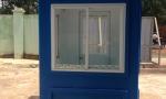 Cabin nhà bảo vệ di động màu xanh dương