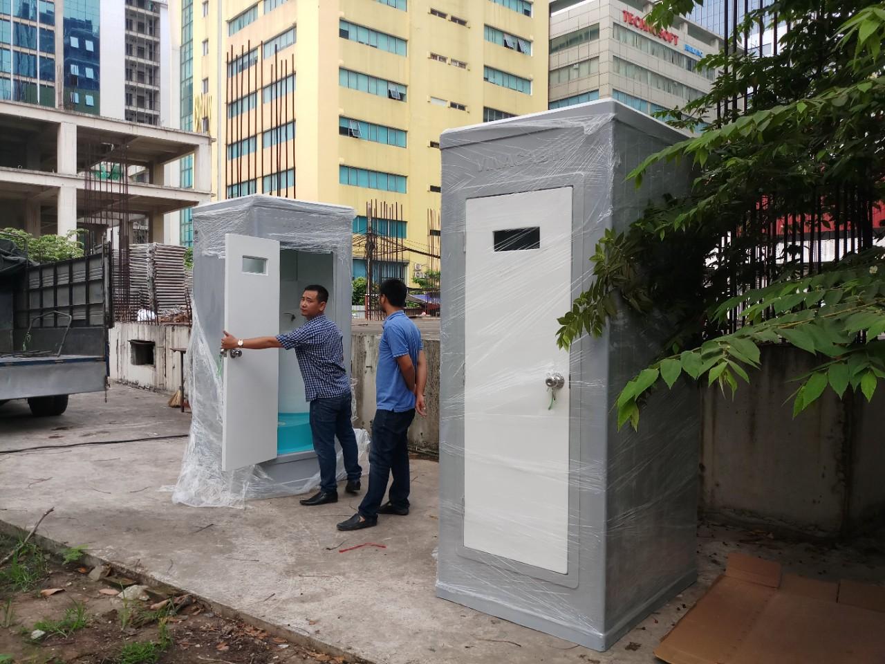 Nhà vệ sinh di động Vinacabin V17.3sử dụng thi công nhà cao tầng