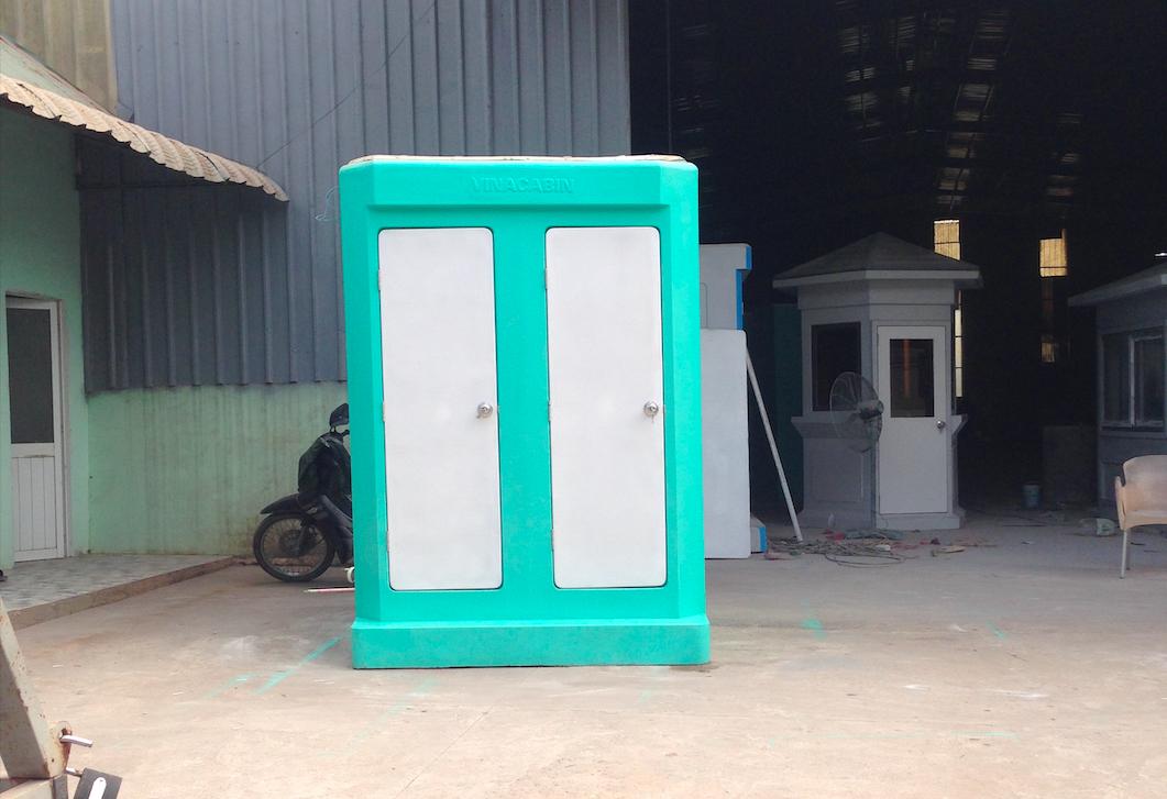 Nhà vệ sinh di động phòng đôi