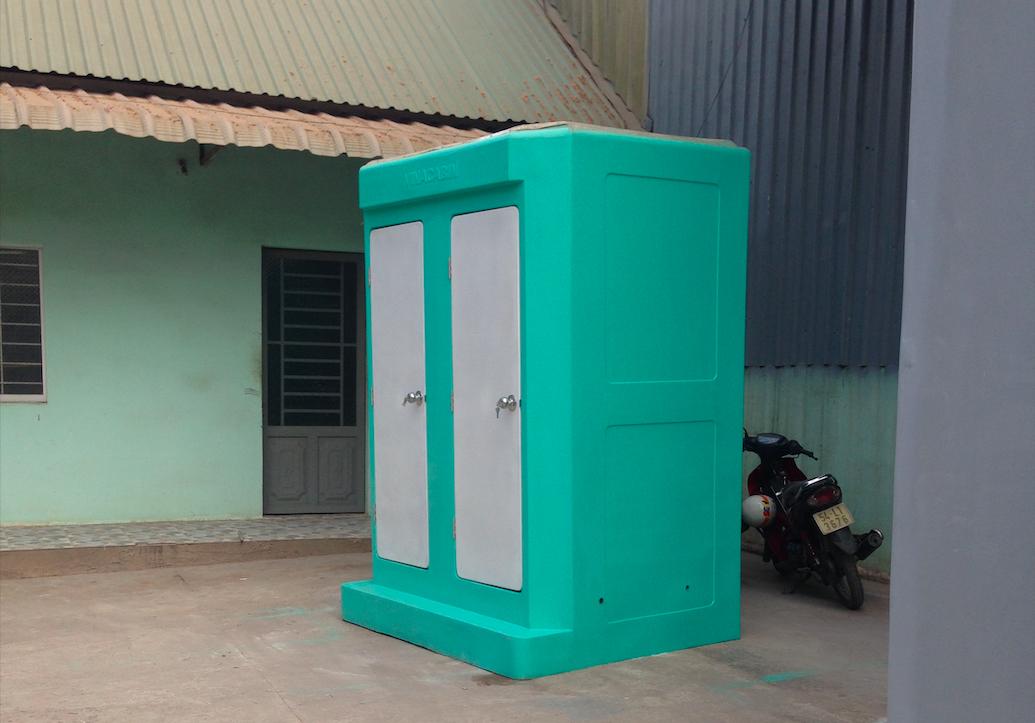 Nhà vệ sinh lưu động hai phòng