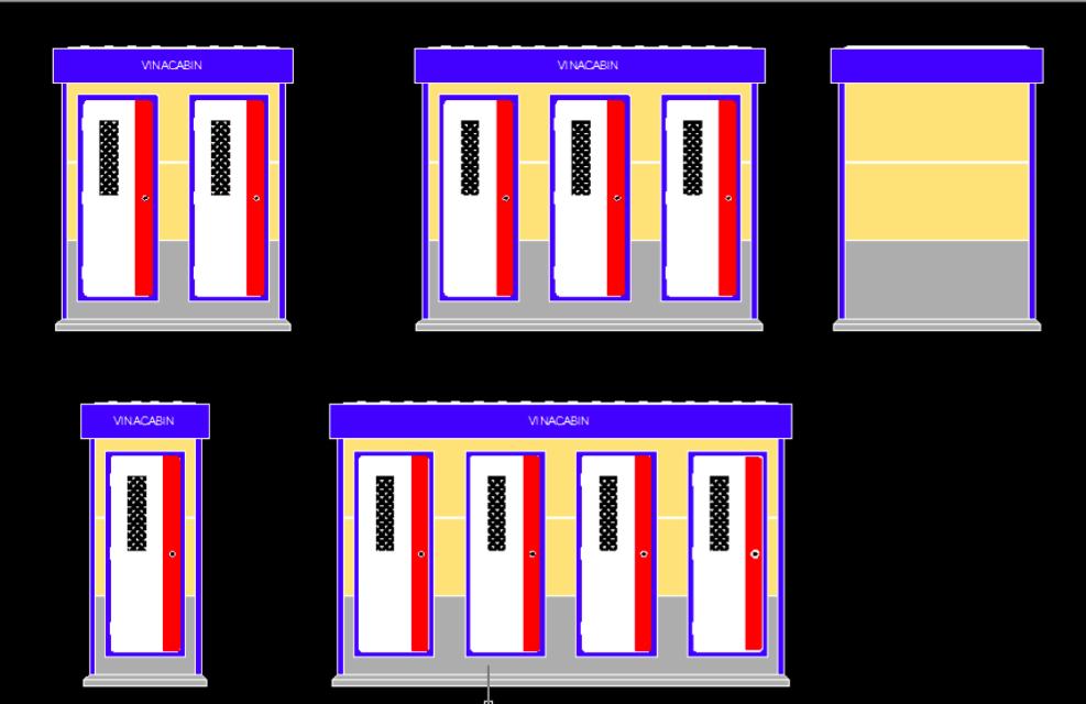 Mẫu concept thiết kế nhà vệ sinh di động Vinacabin  2019