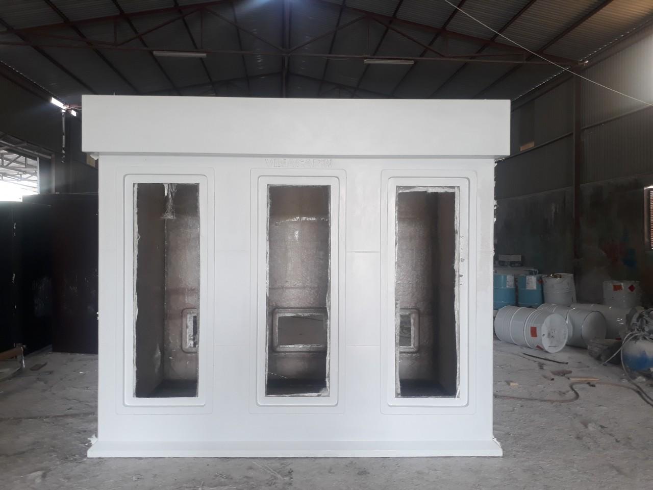 Nhà vệ sinh di động 3 phòng mẫu 2020