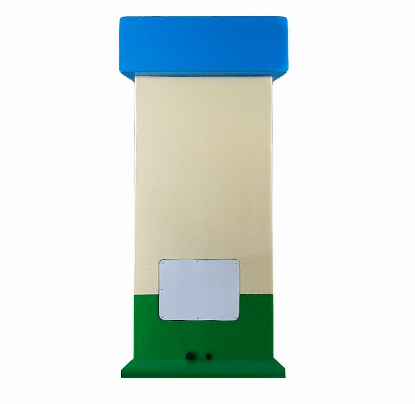 Nhà vệ sinh di động V18.1 có hộp kỹ thuật phía sau để lắp bơm tăng áp