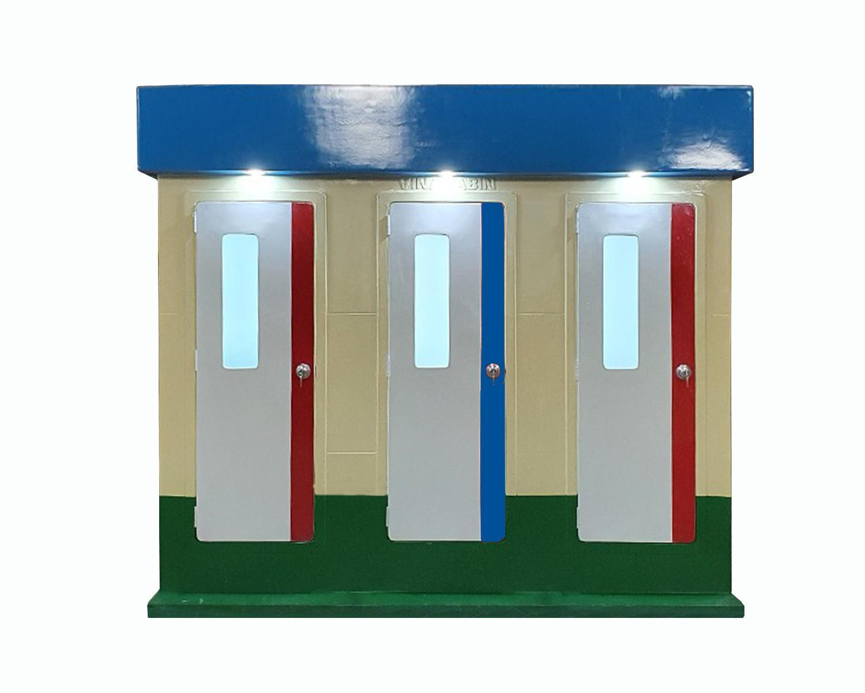 Nhà vệ sinh công cộng 3 phòng có phòng tắm
