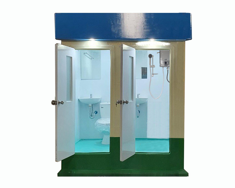 Nhà vệ sinh di động đôi vừa tắm vừa vệ sinh